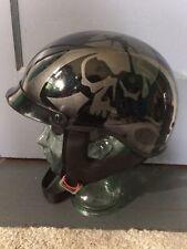 G MAX DOT, glossy black, skull helmet. Motorcycle, bike. Awesome. SIze Medium!