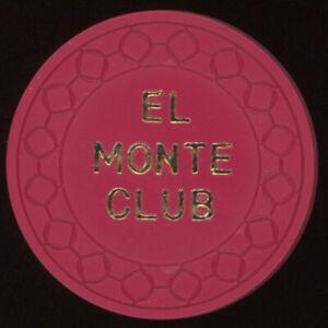 .50 EL MONTE CLUB EUREKA CALIFORNIA CASINO CLUB POKER CHIP