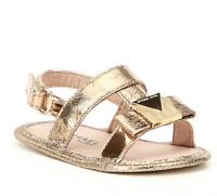 MICHAEL Michael Kors Girls' Baby Sugar Metallic Bow Detail Sandal Crib Shoes SZ1