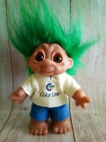 Vintage 1980 Rare Dam Troll Color Line Green Hair Made in Denmark 7""