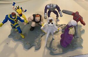 Hardees 1995 Marvel X-Men Kids Meal PVC Figure Cyclops Wolverine Blob Storm