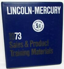 1973 Lincoln Mercury Sales & Product Information Data Book Cougar Continental