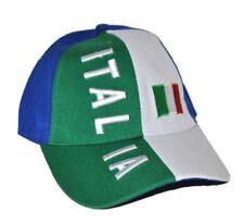 Cappello Italia modello baseball tricolore bandiera cappellino