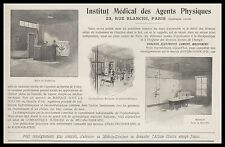 Publicité Institut Medical Massage 23  rue Blanche Paris vintage print ad  1900