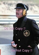 Colin Chapman JPS Lotus F1 Portrait USA Grand Prix 1975 Photograph