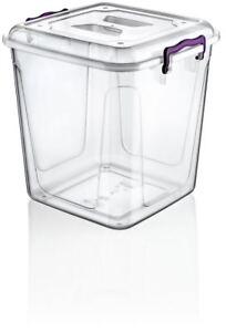 Plastic Food Container Transparent Pantry Storage Box Capacity