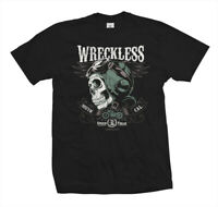 T-Shirt Wreckless | Biker Rockabilly Motorrad Motorcycle Hot Rat Rod V8 Club