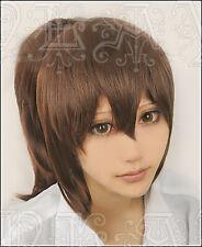 Spirited Away ogino chihiro Anime Brown Hair Short Wig Ponytail Cosplay Costume