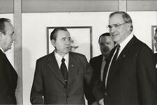 Vintage Press Photo,Gromyko,Helmut Kohl,Genscher,Regis Bossu,Agence Sygma,1983