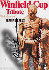 1995 WINFIELD CUP TRIBUTE PROMOTIONAL CARD PERSONALLY SIGNED SUMMONS & PROVAN