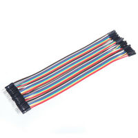40PCS Dupont Wire Jumper Cable 2.54mm 1P-1P Male to Female 10CM//20CM//30CM A2TF
