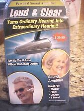 Loud Clear FULL SIZE  Personal Sound Amplification TV Hearing Aid  FREE SHIPPING