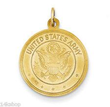 14K Gold St St. Saint Christopher United States US USA ARMY medal charm pendant