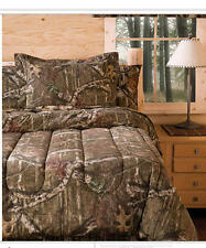 Mossy Oak Camouflage Boys Hunting Cabin Full Comforter & Shams, 3 Piece Bedding
