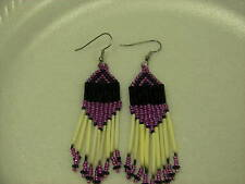 Porcupine quill  earrings NEW Metallic purple Native American