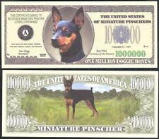 Miniature Pinscher Dog Million Dollar - Lot Of 10 Bills