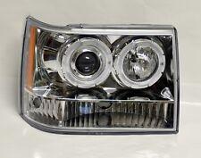 Clear Projector Halo Angel Eye Headlights Fits Jeep Grand Cherokee 1993-1998