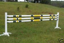 Horse Jumps 3-12ft 3/Stripe CUT Wood Rails 2 Colors - Horse Tack