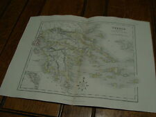 1850's appletons modern atlas engraved by J. Archer-----GREECE  & IONAIN ISLES