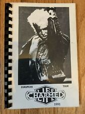 Billy Idol 1991 Charmed Life European Tour autographed travel book for band/crew