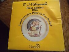 """Goebel Hummel Plate 1975 Anniversary Plate First Edition Stormy Weather 10"""""""