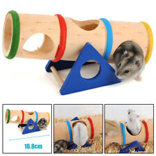 Wooden Colorful Seesaw Cage House Hide Play Pet Toys Hamster Rat Mouse Mice Toy