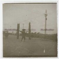 Cambogia Foto Placca Da Lente VR19 L2 Stereo Vintage Ca 1910