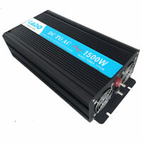 1500W Pure Sine Wave Power Inverter Solar Generator 12V/24V DC to AC 120V/220V