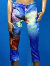 Sparkle Girlz Blue Green Print Knit Leggings Capris Barbie REGULAR PETITE Doll