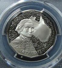 1970 Australia Captain Cook 50c Proof Coin PCGS Graded PR69DCAM