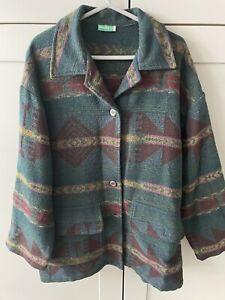 Vintage Kiabi Winch Wool Mix Oversized Jacket Shacket 1990s Grunge Size XL