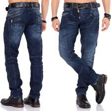 Cipo /& Baxx Uomo Jeans Clubwear Denim Pantaloni cd149 Straight Spessore Cuciture Vintage C