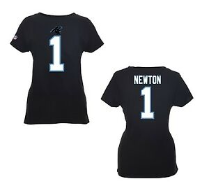 NFL Ladies Carolina Panthers Cam Newton Jersey Black Women Football