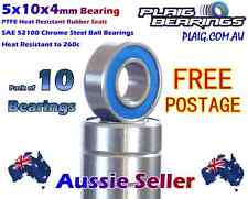 02139 5x10x4mm Upgrade Bearings (10) HSP 2139 Plaig Bearings PTFE Rubber Seals