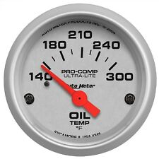 "AutoMeter 4348 Ultra-Lite Electric Oil Temperature 140-300 Deg. Gauge 2-1/16"""