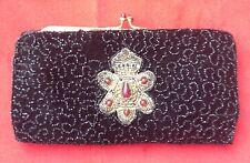 Vintage 1920'S JOLLES ORIGINAL Beaded France Clutch Vanity Bag Evening Handbag C