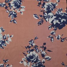 """Multi Color Flower 58"""" Floral Printed Satin Chiffon Fabric"""