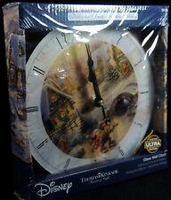 Disney Glass Wall Clock Thomas Kinkade  Limited Edition Mickey Minnie Mouse NIB