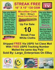 Streak Free MicroFiber Cleaning Cloths (10 Pack)  Wow! FAST FREE Ship!130 GSM