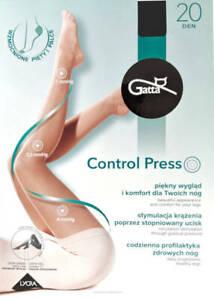 Gatta Control Press Tights with Compression 20 Den Prevents Varicose Veins Nero