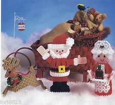 *North Pole Trio 3-D Ornaments To Stitch -Pattern Only*Plastic Canvas Pattern*