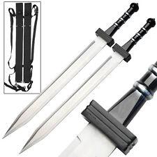 "25.5"" Gladiator Roman Combat Greek Deadly Gladius Twin Sword Set Collectibles"