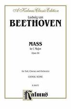 Mass in C Major, Op. 86: SATB with SATB Soli (Orch.) (Latin Language Edition) (