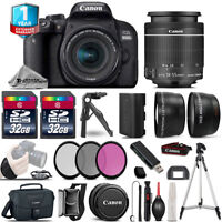 Canon Rebel 800D T7i DSLR Camera + 18-55mm IS STM - 3 Lens Kit + 32GB + Tripod