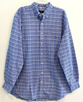 Polo Ralph Lauren Big and Tall Mens 3XB Blue Plaid Button-Front Shirt NWT 3XB