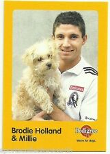 2005 AFL COLLINGWOOD BRODIE HOLLAND AND MILLIE AUSKICK PEDIGREE CARD