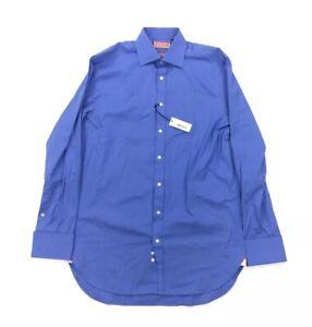 NEW Thomas Pink Classic Blue French Cuff Mens Long Sleeve Dress Shirt 15 35 1/2