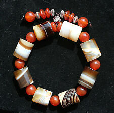 9-14mm Natural beautiful agate bracelet