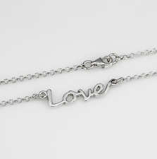 Love Halskette 925 Echt Sterling Silber Kette Damenschmuck