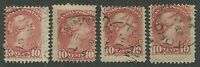 CANADA #45 USED 4 DATED COPIES